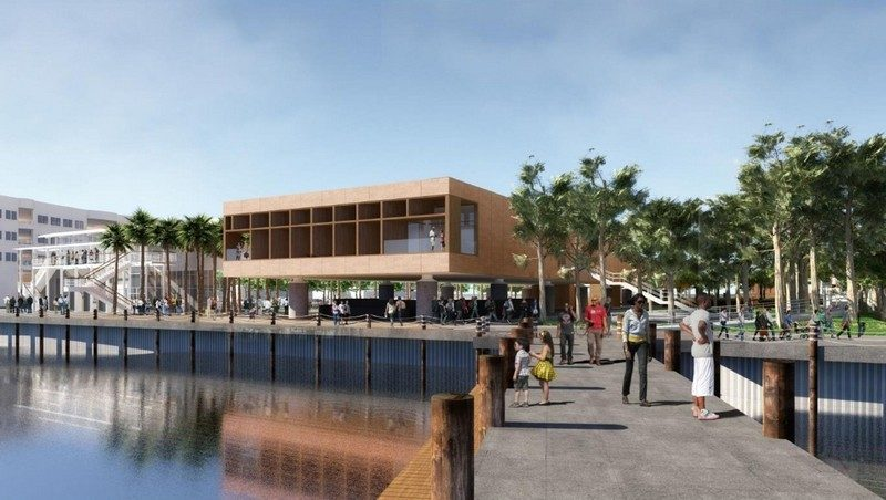 The International African American Museum will be built on the former site of Gadsden's Wharf.