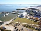 The International African American Museum is planned for the former site of Gadsden's Wharf on Charleston Harbor. Photo courtesy Post & Courier: Leroy Burnell